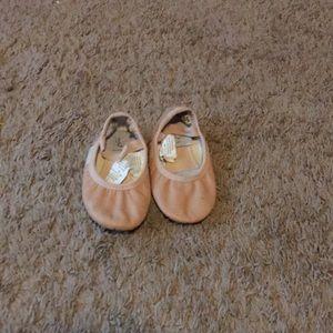 Girl ballet shoes